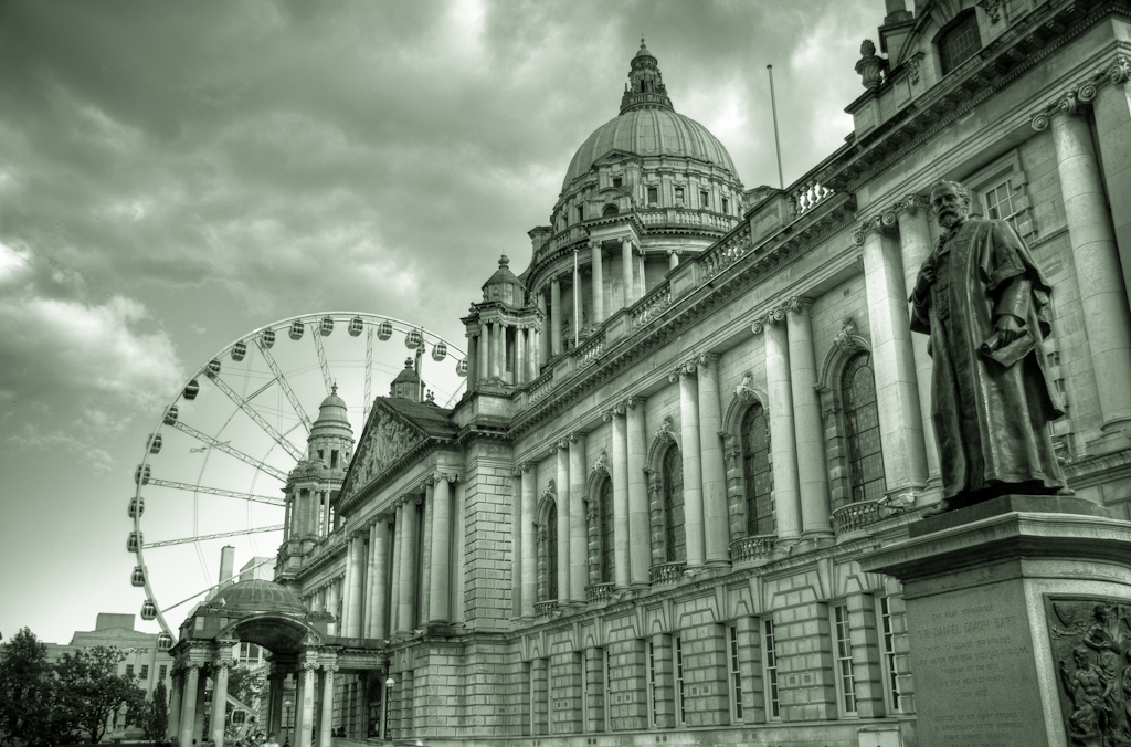 City Hall and Belfast Wheel
