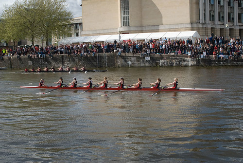 UWE women's team leading their race