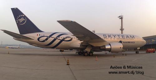 Bela pintura da Skyteam no Aeromexico