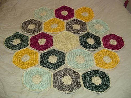 Settlers of Catan blanket - in progress