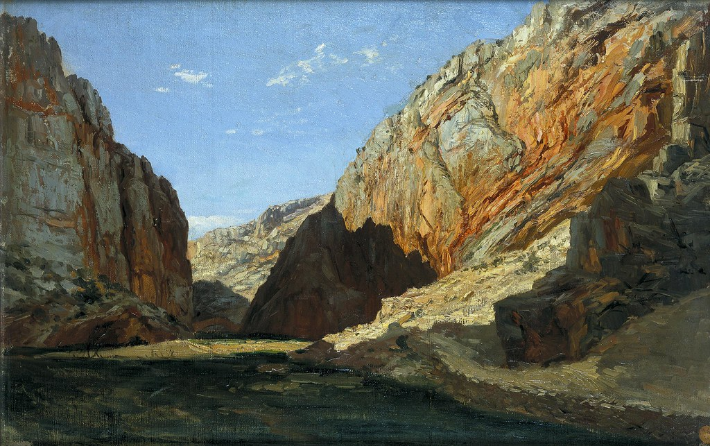 Carlos de Haes (Brussels, 1826-Madrid, 1898) Desfiladero, Jaraba de Aragón (c. 1872) Oil on canvas. 39 by 60 cm. Museo Nacional del Prado, Madrid.