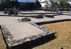 Hachijin no Niwa (jpellgen) Tags: castle rock japan garden japanese march spring sand nikon asia   nippon osaka samurai 1855mm nikkor kansai 2009 nihon kishiwada kinki honshu d40 kishiwadajo  hachijinnoniwa