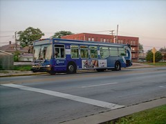 Westbound Pace bus on Grand Avenue. Elmwood Park Illinois. September 2006.