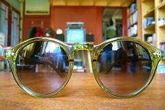 green sunglasses score