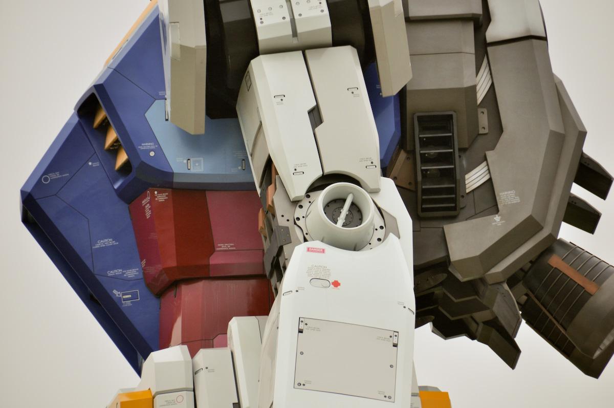 Gundam tamaño real brazo