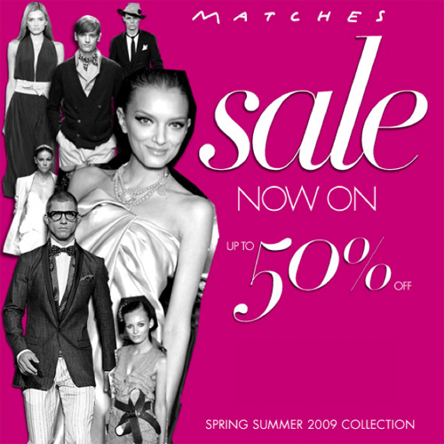 Matches Summer Sale - 50% off - June 09