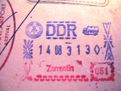 Passport stamp from East Germany