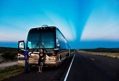 East Side Sunset (www.gageyoung.com) Tags: travel sky bus canon 50mm bay kevin day remember texas tour desert 14 bobo drew walmart east changing stop 5d plains streaks russ tanks butane jeremey videographer mckinnon skaff