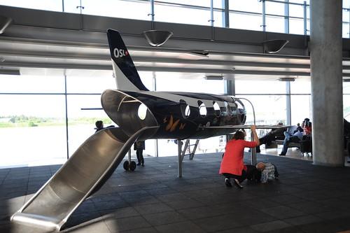 飛行機のすべり台