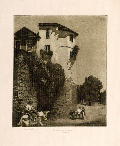 Lionel Lindsay, The house on the wall, Cordova (1923).