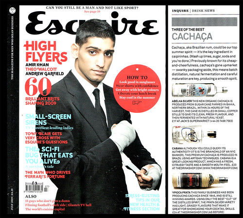 Abelha Cachaca in Esquire, July 2009