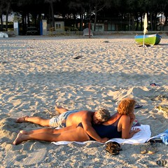 Softness (Osvaldo_Zoom) Tags: sea italy beach seaside couple married sleep softness lovers aged calabria tenderness