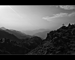 basking in the glory (PNike (Prashanth Naik)) Tags: bw sunlight india sunshine nikon cross hills uttaranchal blacknwhite himalayas mussoorie mountainrange layeredmountains himalayanrange uttarakhand baskinginthesunlight queenofthehills kissedbythelight foothillsofthehimalayas shiwalikrange pnike