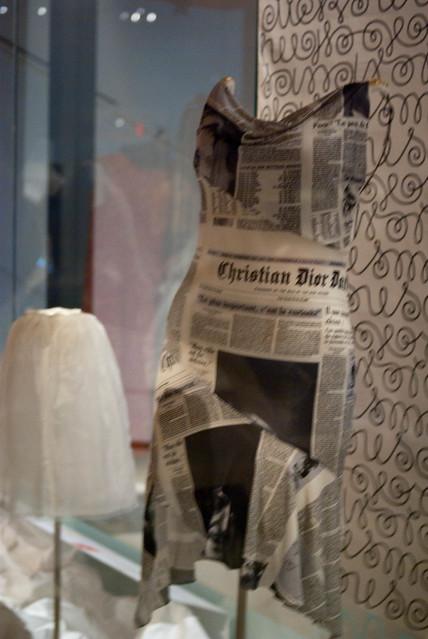 toronto ontario canada museum newspaper dress dior royalontariomuseum christiandior galliano johngalliano newspaperdress