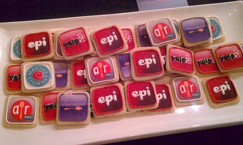 The cutest app icon cookies by @Tasty_Morsels bakery made for #TechMunch