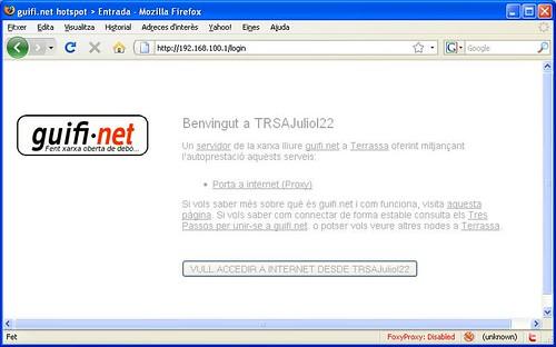 Guifi.net Hotspot a Terrassa
