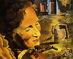 Dali, Salvador (1904-1989) - 1933 Portrait of Gala with Two Lamb Chops Balanced on Her Shoulder (RasMarley) Tags: portrait 1930s surrealism spanish painter dali salvadordali 20thcentury gala 1933 portraitofgalawithtwolambchopsonhershoulders