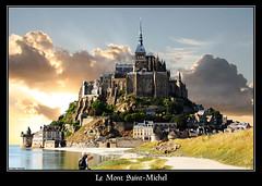 Mont Saint-Michel (Ralph Oechsle) Tags: vacation france clouds fantasy normandy montsaintmichel monastry holyday