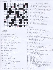 pork-themed crossword puzzle