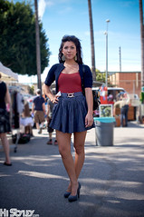 HiStyley l Melrose Trading Post  Street Style  #155 (HiStyley) Tags: california ca street city blue portrait people girl fashion gold la losangeles women style hollywood heels earrings february streetfashion streetstyle pupms melrosetradingpost histyley