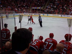 Canes/Flames Fight