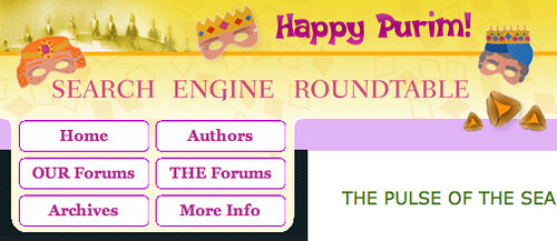 Purim at SERoundtable.com