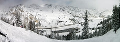Alta Panorama (Jeff McGrath) Tags: vacation mountain snow black ski mountains cold sports nature sport relax fun happy utah little extreme relaxing tracks freezing first powder canyon diamond skiresort cottonwood alta snowskiing blackdiamond littlecottonwoodcanyon enjoyable firsttracks newsnow altaskiresort