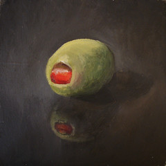 Green Olive - sold (fRiedl aRt) Tags: green olive oil friedl rockford masonite