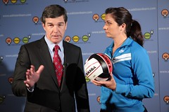 Misty May Treanor and AG Roy Cooper- NC (century council) Tags: roy general may listen cooper beach scenes roy council professional century general behind misty may athlete volleyball attorney ask learn treanor volleyball attorneys