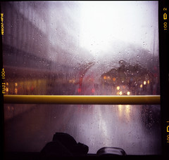 (stereomind) Tags: bus london film rain yellow lubitel 2ndfloor