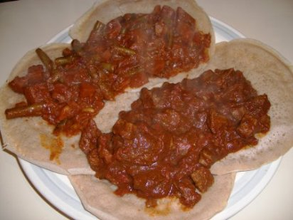 injera ready to serve