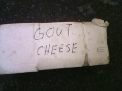 gout cheese?