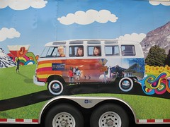 JanSport Trailer Ad featuring a vintage VW Bus in Austin, Texas close-up