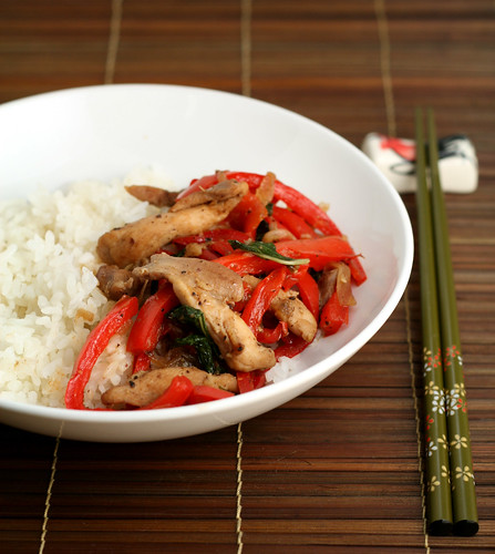 Chicken and Basil Stir Fry