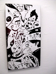 Foot Fetish (TheGrossUncle) Tags: sanfrancisco white art feet illustration ink panel board cartoon marker caricature characters sharpie shelves foundobject footfetish grantgilliland thegrossuncle