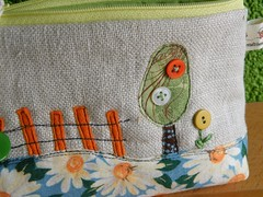 over the fence (monaw2008) Tags: handmade linen jeans cotton quilting recycling applique monaw monaw2008 curderoy