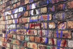graffiti (Jennifer Rose Evans...) Tags: sky brick graffiti canal transformation gloom kiln divide oldnew potterybank