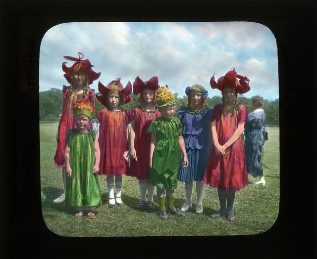 Children in flower costumes