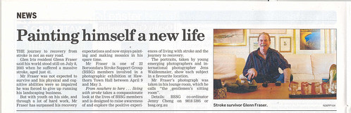 Living With Stroke exhibition - article Progress Leader 24 March, 2009