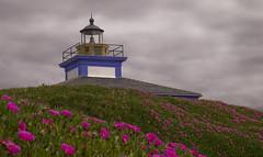 Casa del farero (JoseRamonGarciaG) Tags: flores faro nikon galicia nubes lilas ribadeo d80 capturando islapancha