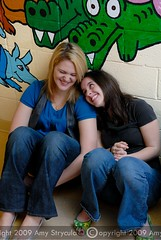 Teen girls share a laugh (amycicconi) Tags: girls friends smile smiling laughing togetherness photo mural sitting friendship alligator young teenagers teens jeans teen laugh teenager d200 bluejeans youngadult seated adolescent youngwoman bestfriends adolescence admiration youngwomen admire younglady youngladies nikond200 sittingonthefloor teenlife amystrycula strycula astrycula