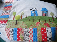 top almost finished (monaw2008) Tags: handmade swap applique artquilt dollquilt monaw monaw2008 dqs6