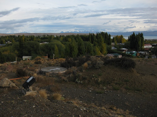 view from the hostel. El Calafate.