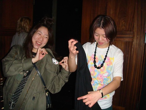 Kumi & Yuriko at QOS Party reception