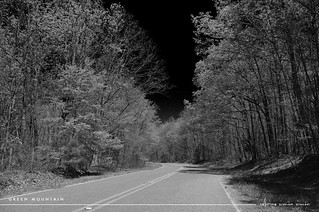 Green Mountain Road in Infrared