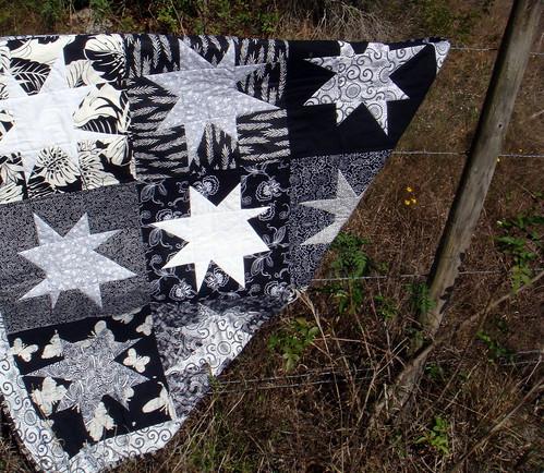 black white quilt
