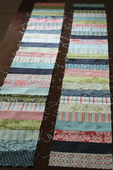 Neptune Strips (interchangeableparts) Tags: workinprogress quilting neptune jellyroll tulapink