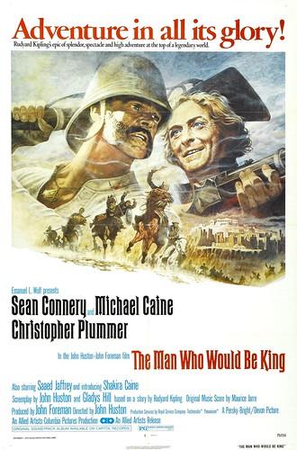 Póster de El hombre que pudo reinar (The man who would be king)