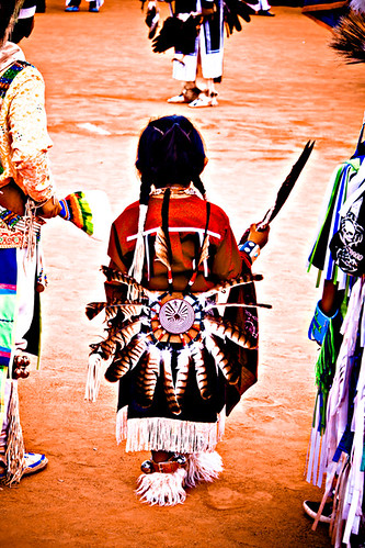 Little one at a pow wow