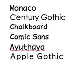 dyslexic friendly fonts